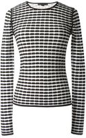 Alexander Wang Black and White Patterns Top - Lyst