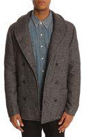 Paul Smith Grey Tweed Coat - Lyst
