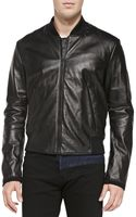 Kenzo Monsterlogo Leather Bomber Jacket - Lyst