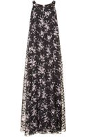 Power Florals Rochas Floral Print Pave Long Tank Dress - Lyst