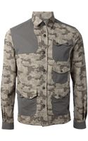 Moncler W Panelled Military Jacket - Lyst