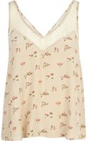 River Island Beige Floral Print Lace Strap Cami Top - Lyst
