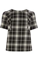 Oasis Mono Check T-shirt - Lyst