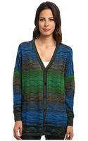 M Missoni Degrade Ripple Knit Oversized Sweater - Lyst