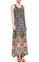 Tolani Annie Silk Sleeveless Long Dress - Lyst