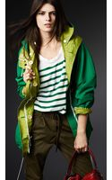 Burberry Reversible Colour Block Parka - Lyst