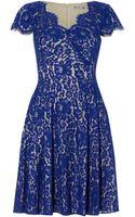 Eliza J Cap Sleeve Lace Dress - Lyst