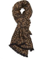 Forever 21 Leopard Print Scarf - Lyst