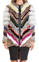 Elizabeth And James Tarra Rabbit and Coyote Fur Jacket - Lyst