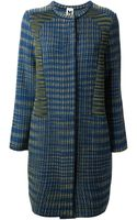M Missoni Textured Panel Coat - Lyst