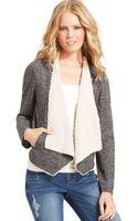 American Rag Fleece Shawl Collar Jacket - Lyst