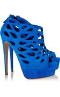 Brian Atwood Milou Cutout Suede Sandals - Lyst