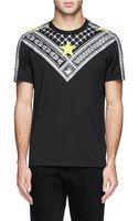 Givenchy Diamond Stud and Star Print T-shirt - Lyst