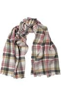 Isabel Marant Matt Plaid Linen and Woolblend Scarf - Lyst