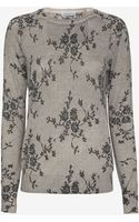 Equipment Sloane Floral Pattern Sweater - Lyst