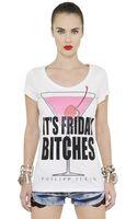 Philipp Plein Embellished  Printed Cotton T-shirt - Lyst