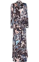 Emilio Pucci Printed Silk Floor Length Dress - Lyst