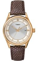 Timex® Womens Originals Mocha Lizardpattern Leather Strap Watch 37mm T2p558ab - Lyst