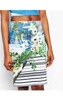 Clover Canyon Corfu Swirl Skirt in Neoprene - Lyst