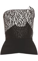 Roland Mouret Embroidered Lace Strapless Top - Lyst