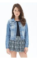 Love 21 Classic Faded Denim Jacket - Lyst