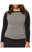 Ralph Lauren Lauren Plus Birdseye Boat Neck Sweater - Lyst