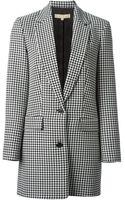 Michael Kors Houndstooth Pattern Jacket - Lyst