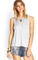 Forever 21 Open Crossback Muscle Tank - Lyst