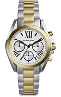 Michael Kors Twotone Stainless Steel Chronograph Bracelet Watch - Lyst