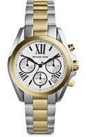 Michael Kors Twotone Stainless Steel Chronograph Bracelet Watch - Lyst
