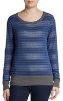 Michael Stars Reversible Striped Crewneck Sweater - Lyst
