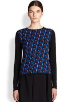 J.W. Anderson Merino Wool Wave Jacquard Pullover - Lyst