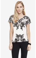 Express Boxy Graphic Tee  - Lyst