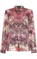 Pied A Terre Silk Floral Shirt - Lyst