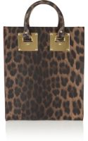 Sophie Hulme Mini Leopardprint Leather Tote - Lyst