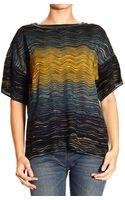 M Missoni Short Sleeve  Mesh Jaquard Fantasy Sweater  - Lyst