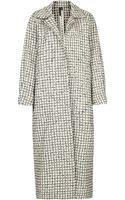 Topshop Wadded Check Coat By Boutique - Lyst