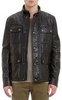 Belstaff Waxed Leather Warrington Jacket - Lyst