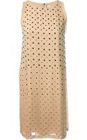 Diane Von Furstenberg Embellished Shift Dress - Lyst