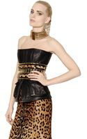 Balmain Nappa Leather Bustier Top - Lyst