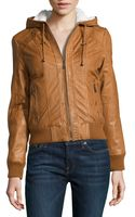 Marc New York By Andrew Marc Raquel Hooded Leather Jacket - Lyst