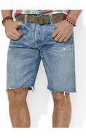 Polo Ralph Lauren Indigodyed Denim Cutoff Shorts - Lyst