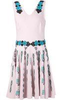 Elle Sasson Pleated Skirt Dress - Lyst