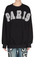 Ashish Cotton Sweatshirt with Paris Pearls Embroidery - Lyst