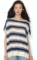 Lauren by Ralph Lauren Shortsleeved Linen Sweater - Lyst