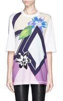 3.1 Phillip Lim Geo Floral Print Tshirt - Lyst