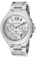 Michael Kors Womens Chronograph Light Silver Dial Stainless Steel Mkors Watch - Lyst