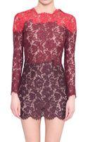 Valentino Cotton Lace Dress - Lyst