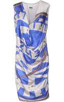 Mm6 By Maison Martin Margiela Kneelength Dress - Lyst
