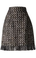 Lanvin Tweed Skirt - Lyst